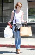 EMMA STONE Out Shopping in Los Angeles 04/29/2015