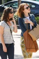 EMMA STONE Out Shopping in Los Angeles