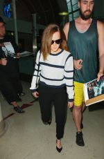 EMMA WATSON Arrives at LAX Airport in Los Angeles 04/22/2015