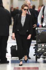 EMMA WATSON at JFK Airport in New York