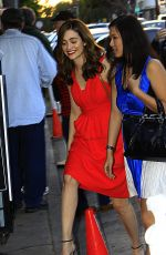 EMMY ROSSUM Arrives at Ctaig;s Restaurant in West Hollywood 04/18/2015