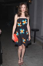 EMMY ROSSUM Leaves Craig's Restaurant in Los Angeles
