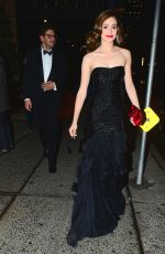 EMMY ROSSUM Leaves Her Hotel in New York