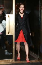 EMMY ROSSUM Leaves Today Show Set in New York