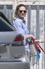 EMMY ROSSUM Takes Her Dog to a Vet in West Hollywood