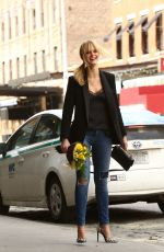 ERIN HEATHERTON in Ripped Jeans Out and About in New York
