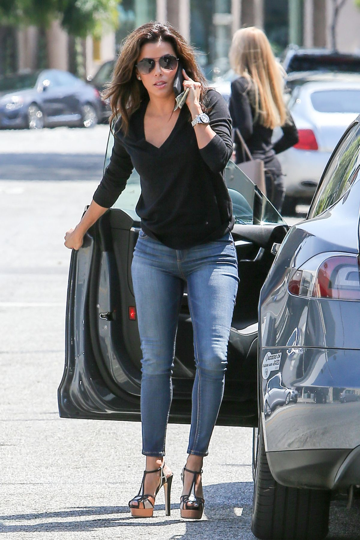 Eva Longoria In Jeans Out And About In Los Angeles 24 Hawtcelebs