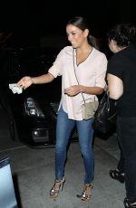 EVA LONGORIA Out for Dinner at Ago Restaurant in Hollywood