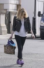 FEARNE COTTON Arrives at BBC Radio 1 in London