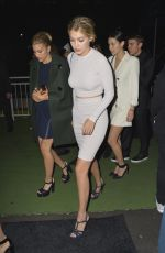 GIG HADID Leaves Karl Lagerfeld's Cruise with Karl Boat Party in New York