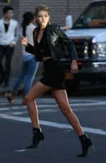 GIG HADID on the Set of a Photoshoot in New York 04/26/2015