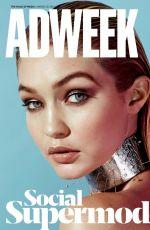 GIGI HADID at Adweek March 2015 Issue
