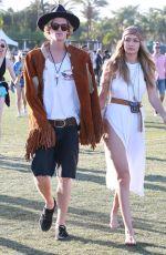 GIGI HADID at Coachella Valley Music Festival, Day 3