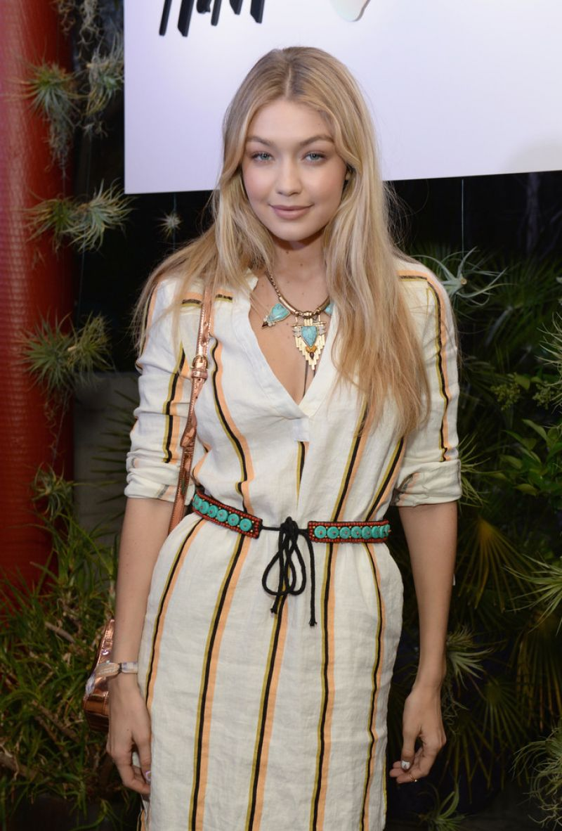 GIGI HADID at Official H&M Loves Coachella Party in Palm Springs