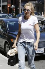 GIGI HADID in Jeans Out and About in Beverly Hills