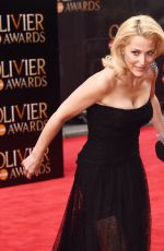 GILLIAN ANDERSON at 2015 Oliver Awards in London