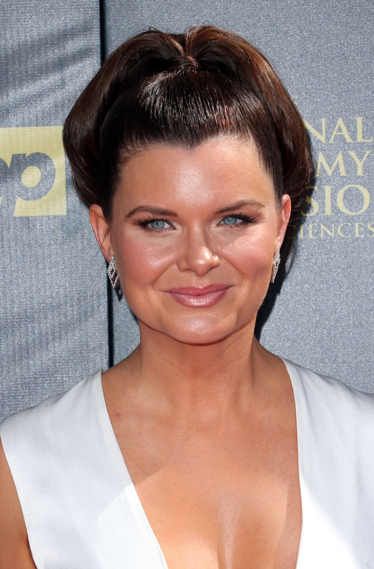 HEATHER TOM at 2015 Daytime Emmy Awards in Burbank