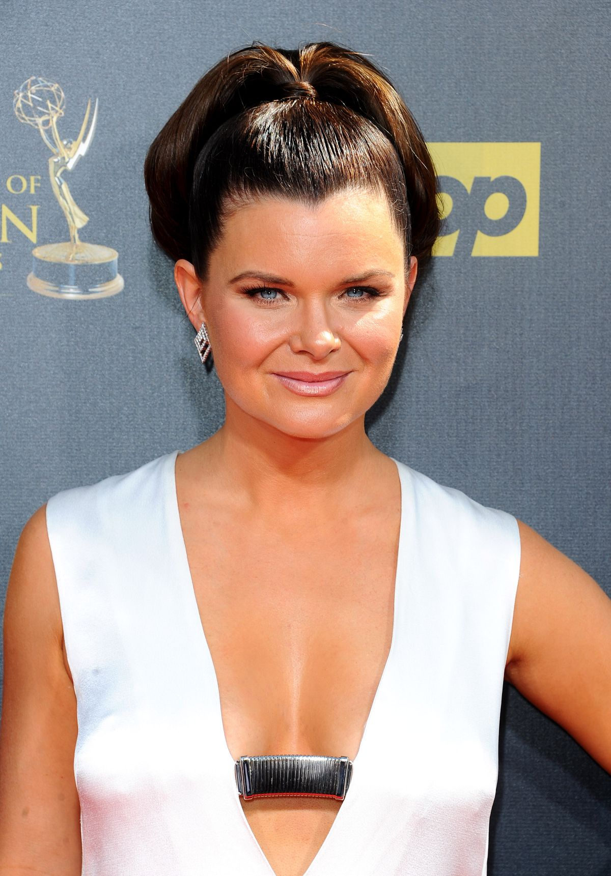 HEATHER TOM at 2015 Daytime Emmy Awards in Burbank - HawtCelebs ...