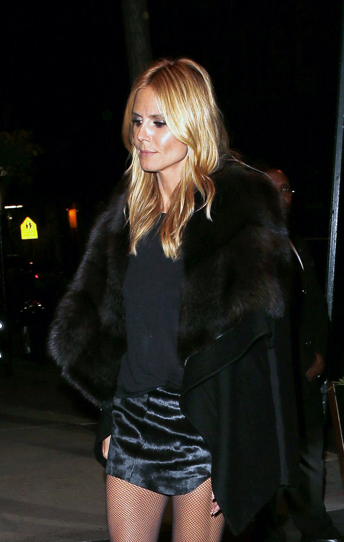 HEIDI KLUM Arrives at The Caryle Hotel in New York