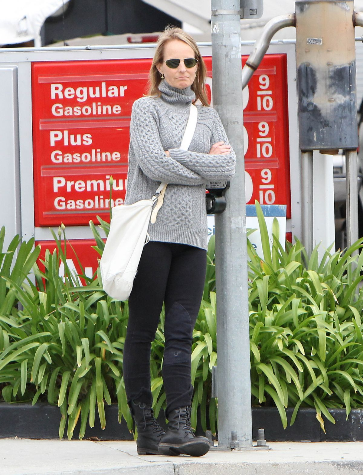 HELEN HUNT Out and About in Brentwood 04/22/2015