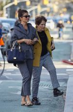 HELENA CHRISTENSEN with Her Mother Out in West Village