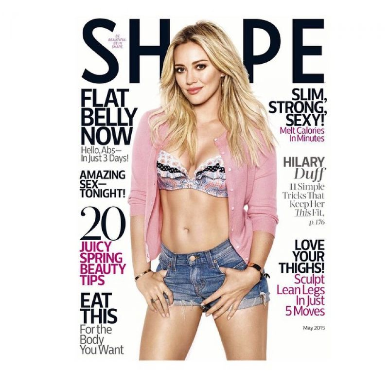 HILARU DUFF on the Cover of Shape Magazine, May 2015 Issue