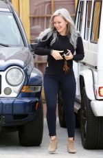 HILARY DUFF Arrives at a Studio in Los Angeles 04/23/2015