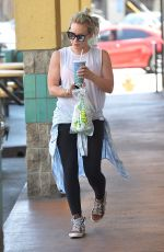 HILARY DUFF Leaves a Subway Station in Los Angeles