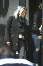 HILARY DUFF Leaves Her Home in Brooklyn