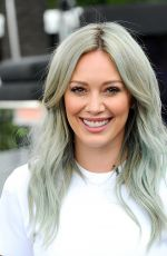 HILARY DUFF on the Set of Extra in Universal City