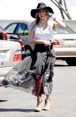 HILARY DUFF Out and About in Beverly Hills 04/26/2015