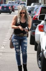 HILARY DUFF Out and About in Hollywood 04/29/2015