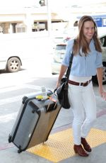 HILARY SWANK Arrives at Los Angeles International Airport 04/26/2015