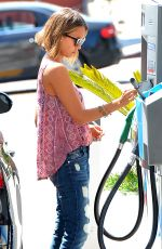 JESSICA ALBA at a Gas Station in Los Angeles