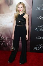 PEYTON LIST at The Age of Adaline Premiere in New York