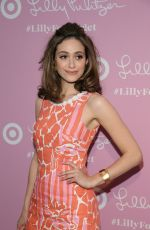 EMMY ROSSUM at Lilly Pulitzer for Target Launch in New York