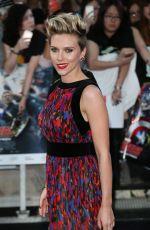 SCARLETT JOHANSSON at Avengers: Age of Ultron Premiere in London