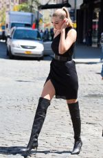 GIGI HADID Out and About in New York 04/29/2015