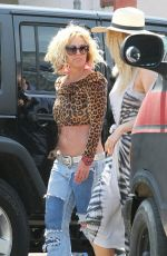 BRITNEY SPEARS on the Set of Her New Music Video in Studio City