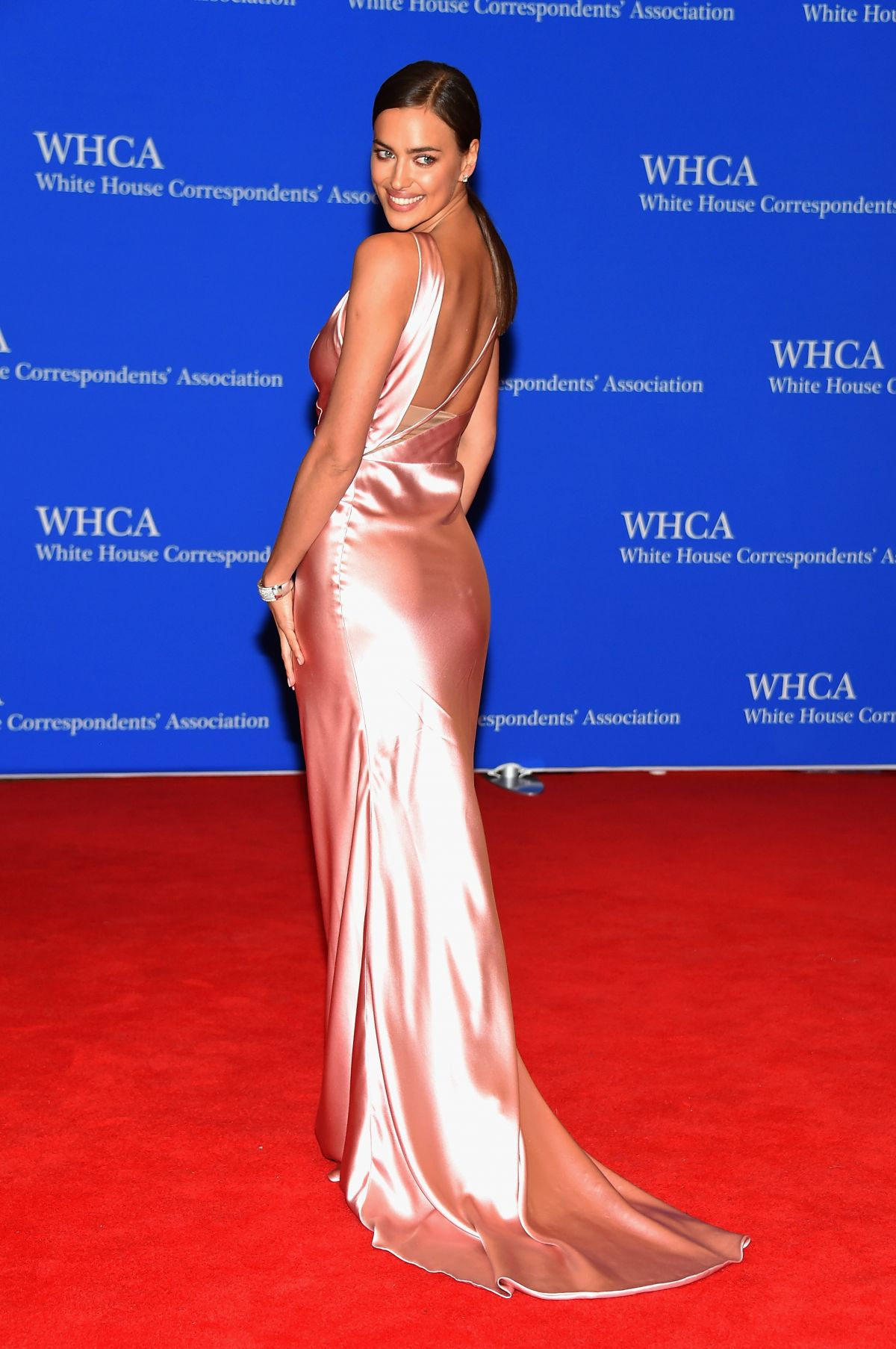 IRINA SHAYK at White House Correspondents Association Dinner in Washington