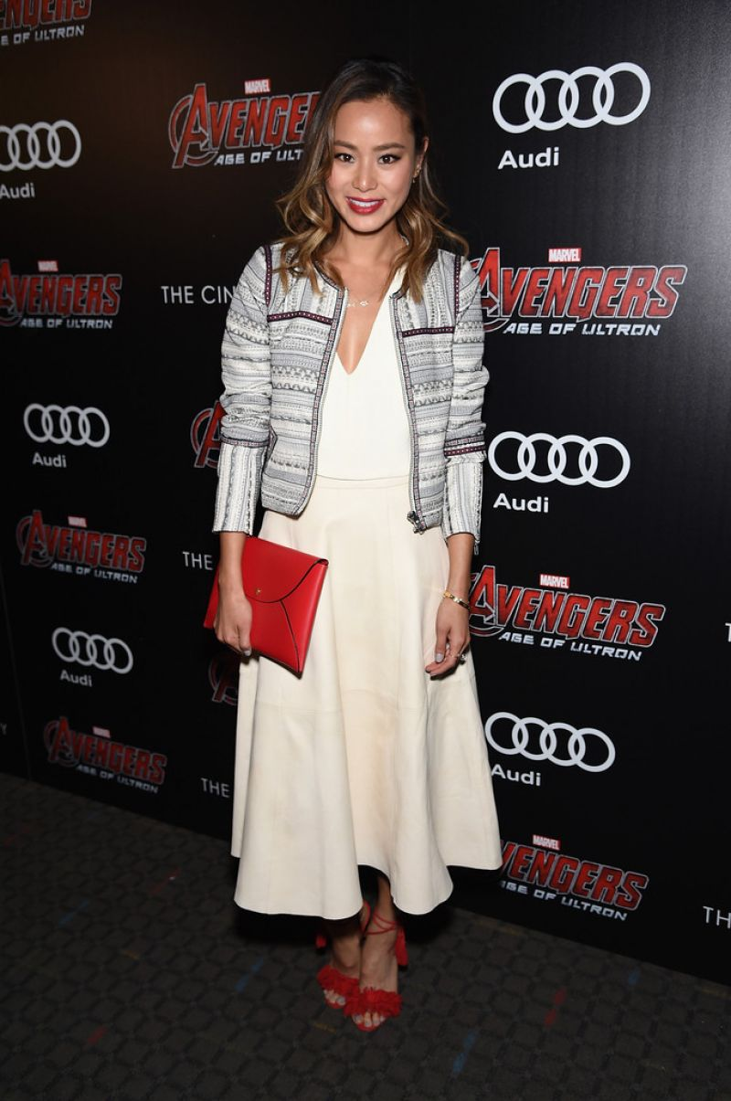 JAMIE CHUNG at Avengers: Age of Ultron Screening in New York