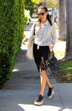 JAMIE CHUNG Leaves Her House in West Hollywood