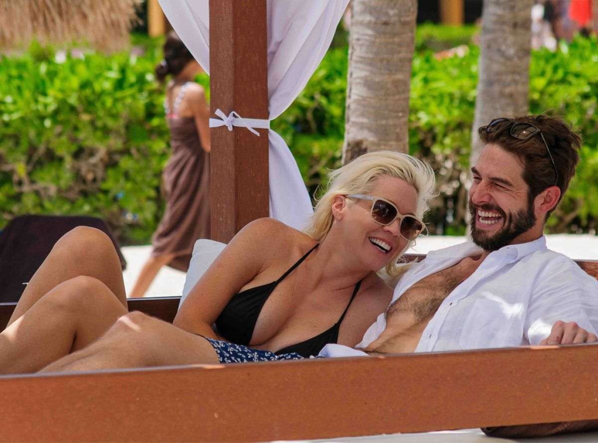 JENNIE GARTH in Bikini and Dave Abrams on the Beach in Tulum