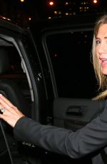 JENNIFER ANISTON Heading to a Dinner in New York 04/28/2015