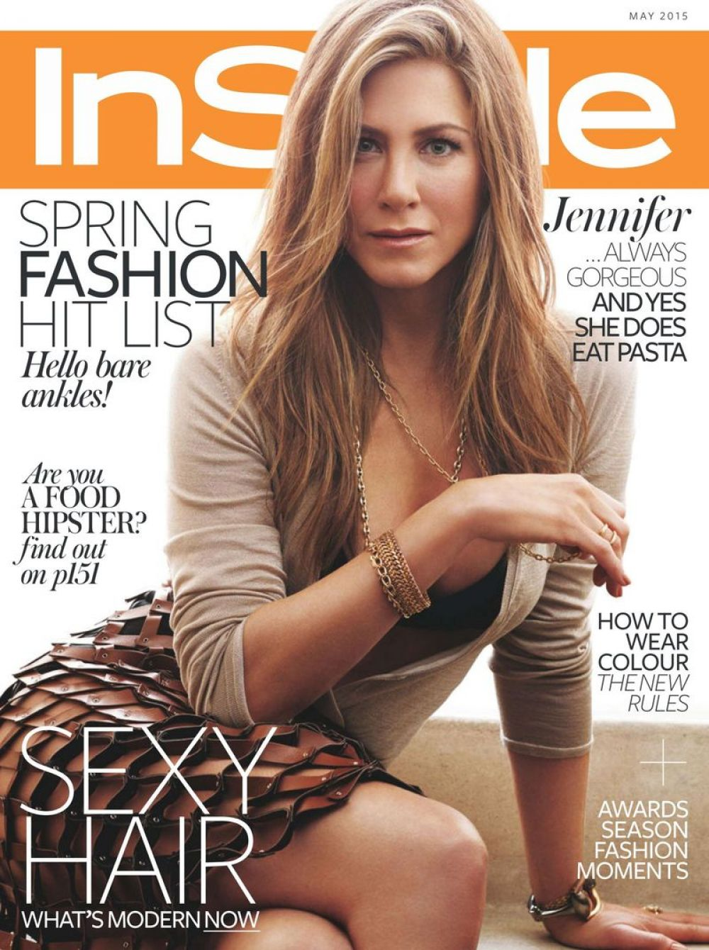 Instyle Magazine Us: JENNIFER ANISTON In Instyle Magazine, UK May 2015 Issue