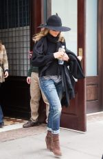 JENNIFER ANISTON Leaving Her Hotel in New York 04/27/2015