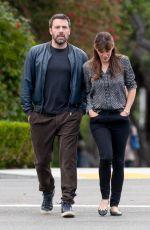 JENNIFER GARNER and Ben Affleck Out in Brentwood 04/24/2015