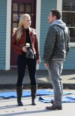 JENNIFER MORRISON on the Set of Once Upon a Time in Richmond