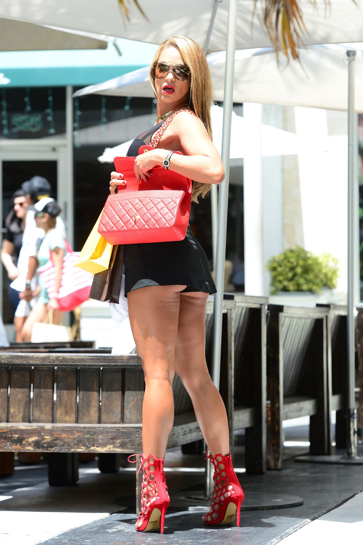 JENNIFER NICOLE LEE in Mini Skirt and Tank Top Out Shopping in ...