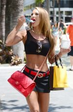 JENNIFER NICOLE LEE in Mini Skirt and Tank Top Out Shopping in Miami